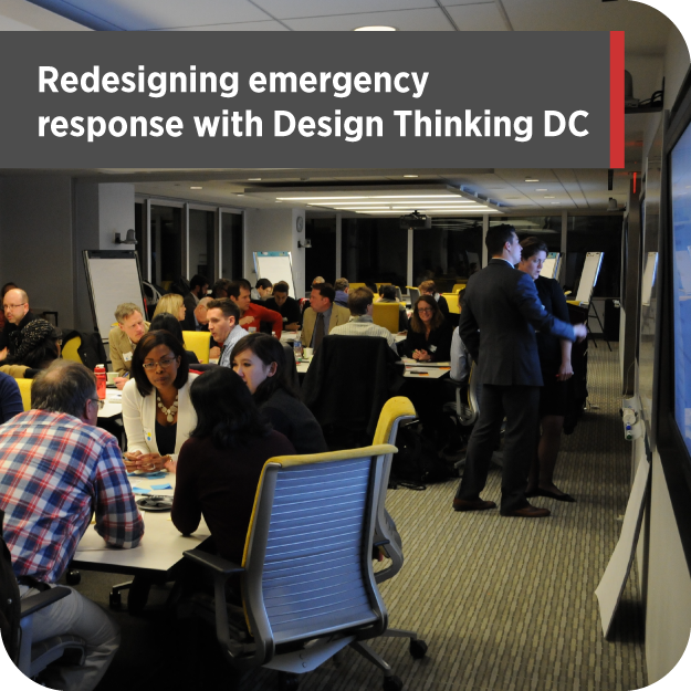 DT:DC designing emergency response with preparadness innovation leaders.