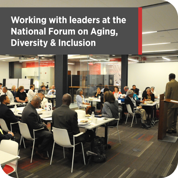 Designing for good at the National Forum on Aging, Diversity and Inclusion.